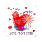 Worlds Greatest Mum ~ Happy Mothers Day Personalised Coaster