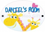 Personalised Giraffe Door Sign