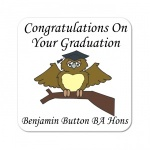 Graduation Owl Coaster