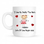 Personalised I Love My .... This Much Mug (One Child)
