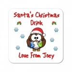 Personalised Santa's Christmas Drink Coaster