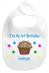 Personalised 1st Birthday Smartie Baby Bib