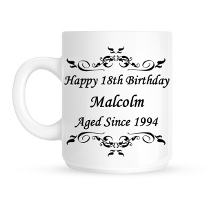 Aged Since ... Personalised Mug