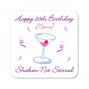 Shaken Not Stirred Personalised Coaster