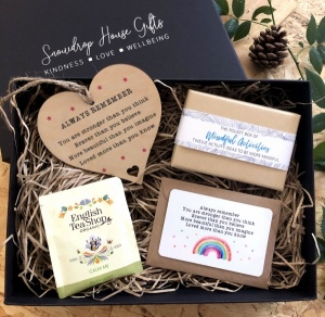 Always Remember You Are Stronger Than You Think Braver Than You Believe Wooden Sign Wallet Card Mindfulness STRENGTH Gift Box Set