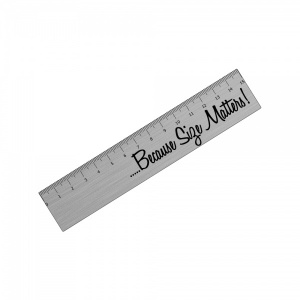 Because Size Matters! Metal Ruler For Toolbox