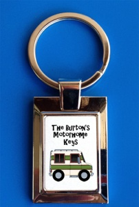 Personalised Cartoon Style Motorhome Keys Keyring