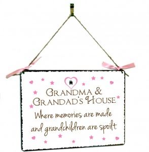 Grandma & Grandad's House Hanging Plaque