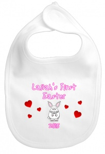 Personalised 1st Easter Bunny Baby Bib