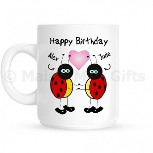Personalised Happy Birthday Ladybird Mug