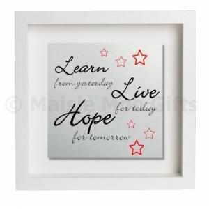 learn live hope metal wall art personalised gift personalised