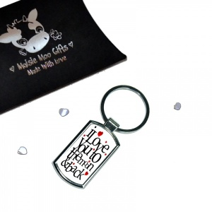 I Love You To The Moon & Back Keyring