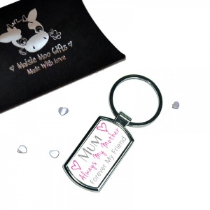 Mum Always My Mother Forever My Friend Metal Keyring In Gift Box