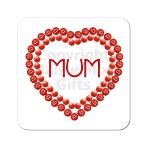 Mum In Heart Coaster
