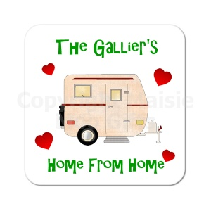 Personalised Caravan Home Coaster
