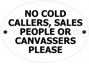 No Sales Door Sign