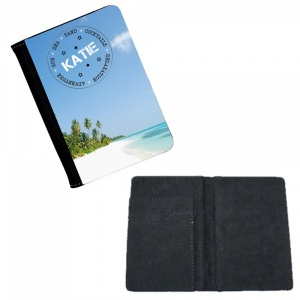 Personalised Beach Scene Passport Cover