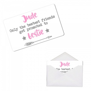 Personalised Bestie Metal Wallet / Purse Sentimental Card