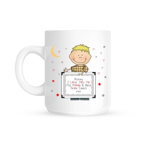 Personalised I Love You To The Moon & Back Child Mug (1 Child)