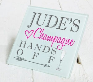 Personalised Champagne Glass Gift Drinks Coaster