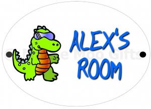 Personalised Dinosaur Door Sign