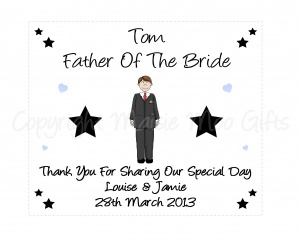 Personalised Father Of The Bride/Groom Glasses Cleaning Cloth