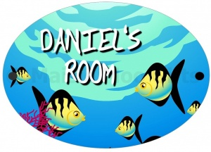 Personalised Fish Door Sign