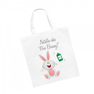 Personalised Gin Bunny (Not Gym Bunny!) Shopping Tote Bag
