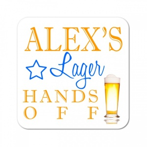 Personalised Lager Wooden Gift Drinks Coaster
