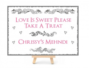 Personalised Mehndi Party Wedding Metal Sign