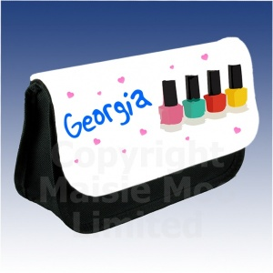 PersonalisedNail Varnish Makeup Bag