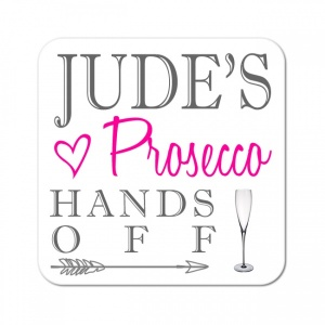 Personalised Prosecco Wooden Gift Drinks Coaster