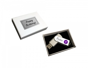 Personalised Name Heart USB 8GB Gift Boxed