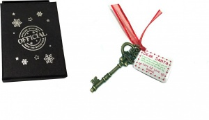 GOLD Metal Santa Key Gift Boxed - Special Delivery From The North Pole