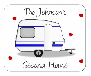 Personalised Caravan Placemat