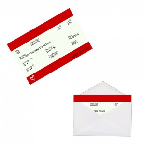 Personalised RED Train Ticket Metal Wallet / Purse Sentimental Card