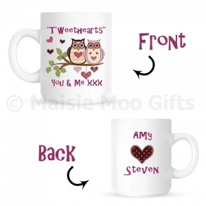 Tweethearts Personalised Owl Gift Mug