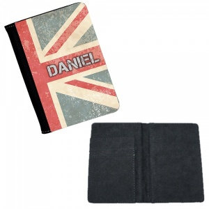 Personalised Retro Style Union Jack Passport Cover