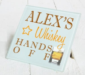 Personalised Whiskey Glass Gift Drinks Coaster