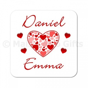 Personalised Love Hearts Coaster