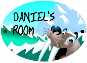 Personalised Sealion Door Plaque