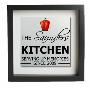 Family Kitchen Personalised Metal Wall Art