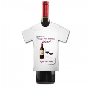 Personalised WINE Birthday Bottle End Of Term Mini T Shirt
