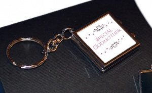 Special Godmother Compact Mirror Photo Locket Keyring