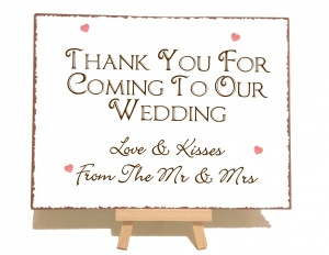Thank You Wedding Vintage Shabby Chic Sign