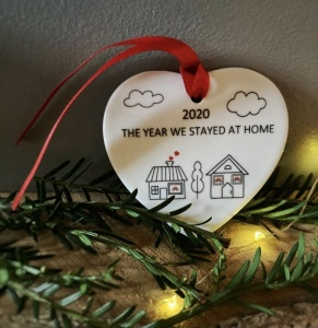 The Year We Stayed At Home 2020 Christmas Ceramic Ornament