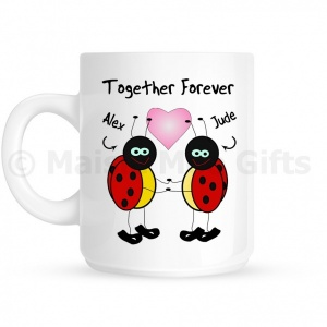 Personalised Together Forever Ladybird Mug