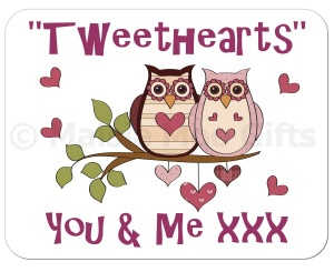 Tweethearts Owl Mousemat