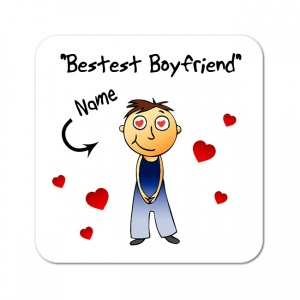 Personalised Boyfriend / Husband Coaster