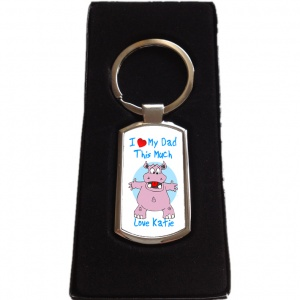 Personalised I Love My Dad Keyring